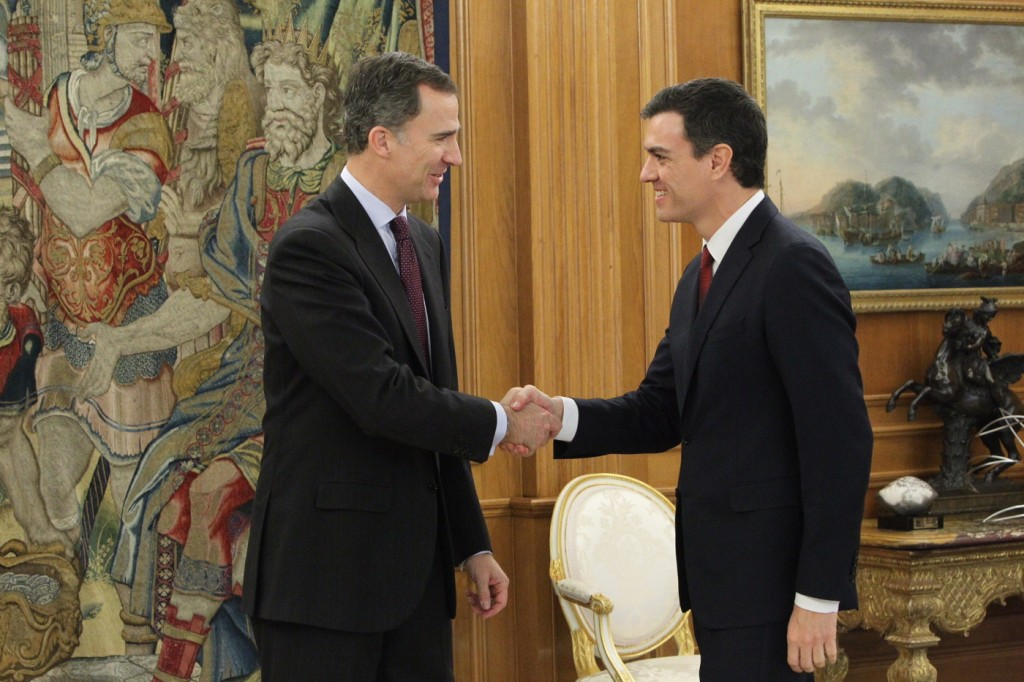 Consulta del Rey Felipe VI con Pedro Sánchez